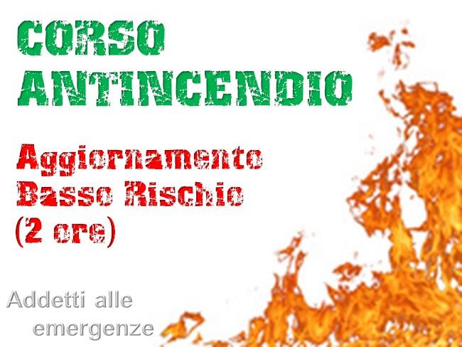"""Corso aggiornamento rischio incendio """"Basso"""""""