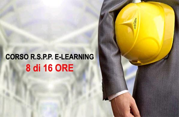 Corso R.S.P.P. - 8 ore (parte in e-learning)